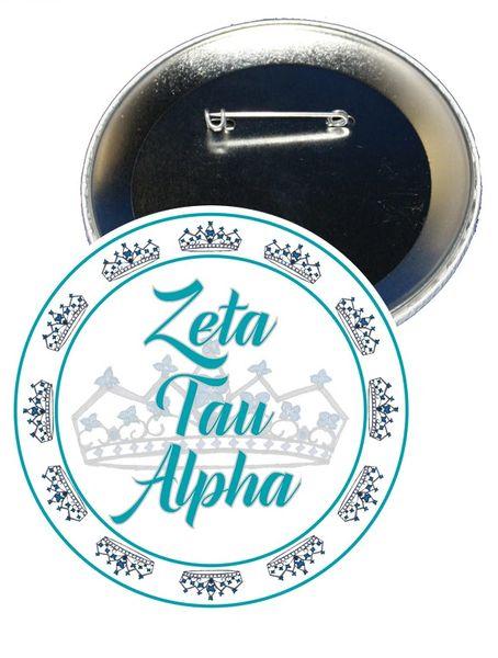 Zeta Tau Alpha Sorority Button