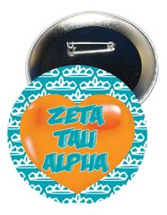 Zeta Tau Alpha Heart Button