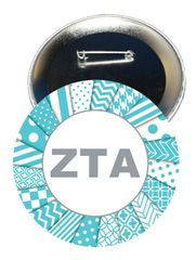 Zeta Tau Alpha Letters Button