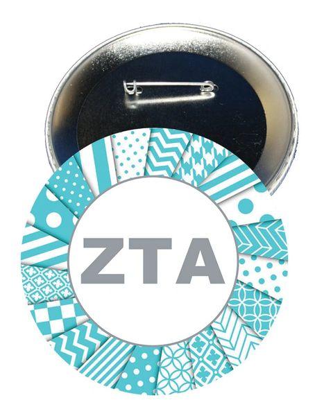 Zeta Tau Alpha Letters Button
