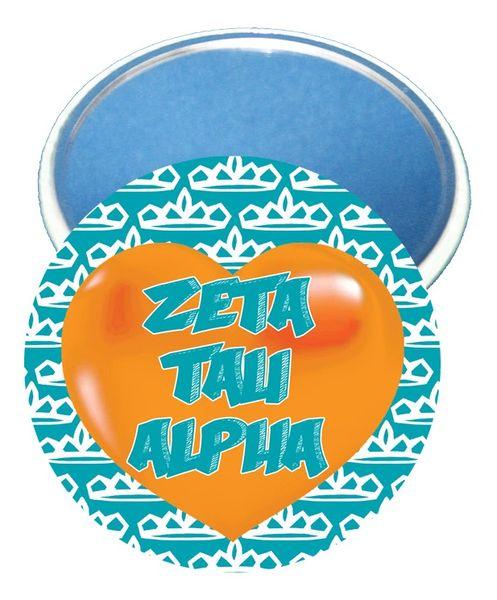 Zeta Tau Alpha Heart Mirror