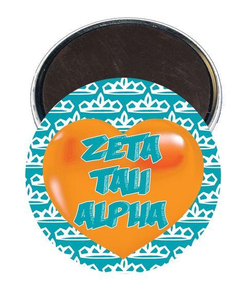 Zeta Tau Alpha Heart Magnet