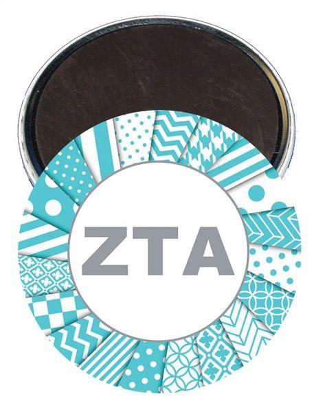 Zeta Tau Alpha Letters Magnet
