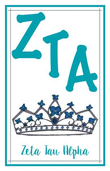 Zeta Tau Alpha Logo Poster