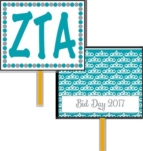 Zeta Tau Alpha Bid Day Hand Fan
