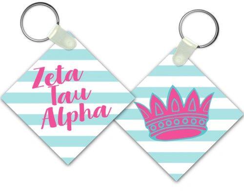 Zeta Tau Alpha Key Chain