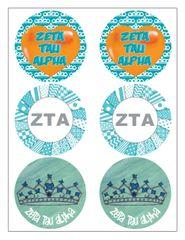 Zeta Tau Alpha Sticker Sheet