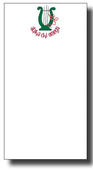 Alpha Chi Omega Notepad - Skinny