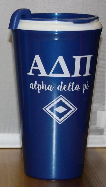 Alpha Delta Pi Coffee Tumbler
