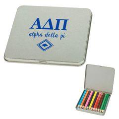 Alpha Delta Pi Colored Pencil Tin