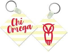 Chi Omega Key Chain