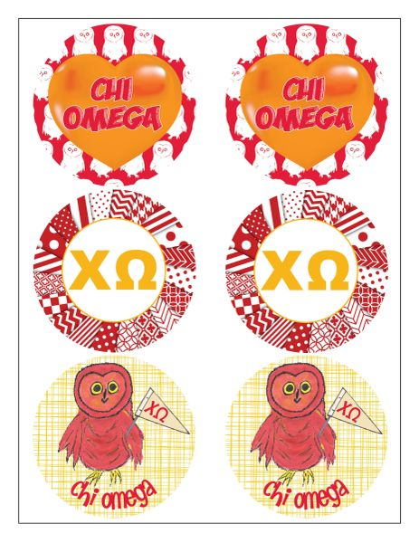 Chi Omega Sticker Sheet