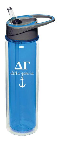 Delta Gamma Plastic Water Bottle