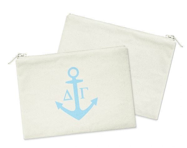 Delta Gamma Small Cosmetic Bag