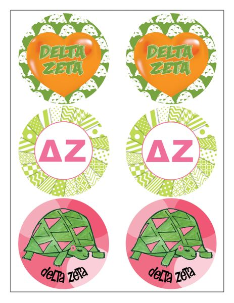 Delta Zeta Sticker Sheet