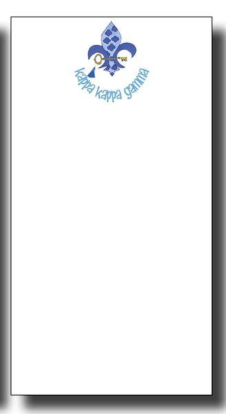 Kappa Kappa Gamma Notepad - Skinny