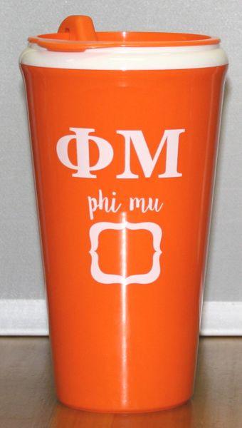 Phi Mu Coffee Tumbler