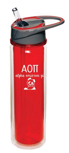 Alpha Omicron Pi Plastic Water Bottle