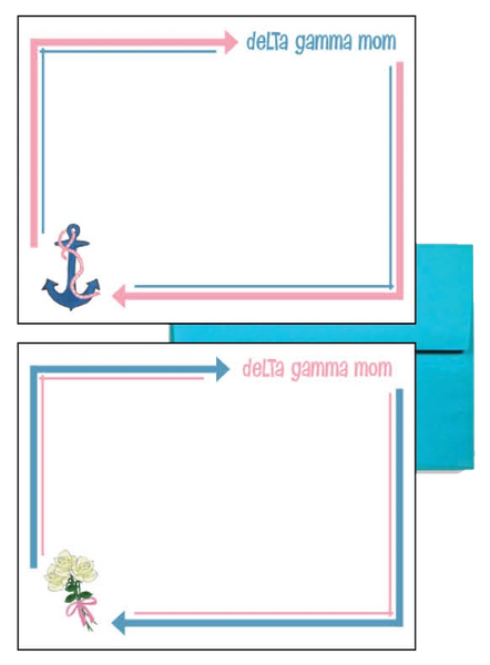 Delta Gamma Mom Arrow Postcards