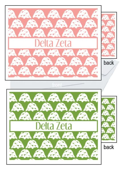 Delta Zeta Sorority Notecards
