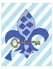 Kappa Kappa Gamma Fleur-de-lis Poster
