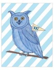 Kappa Kappa Gamma Owl Poster