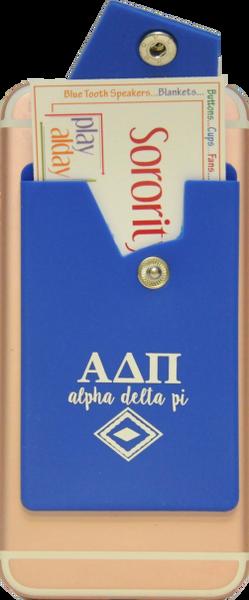 Alpha Delta Pi Cell Phone Pocket with Snap Closure