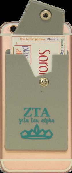 Zeta Tau Alpha Cell Phone Pocket with Snap Closure