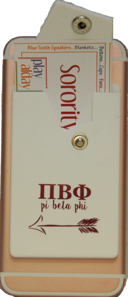 Pi Beta Phi Cell Phone Pocket with Snap Closure