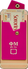 Phi Mu Cell Phone Pocket with Snap Closure