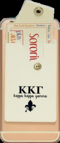 Kappa Kappa Gamma Cell Phone Pocket with Snap Closure