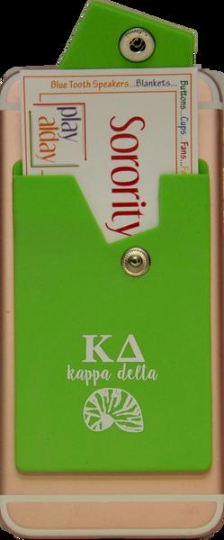 Kappa Delta Cell Phone Pocket with Snap Closure