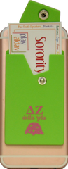 Delta Zeta Cell Phone Pocket with Snap Closure