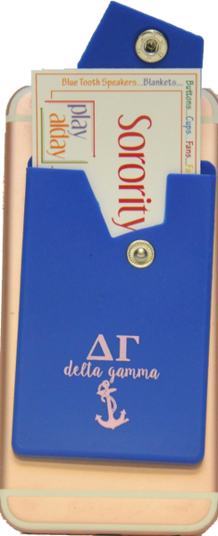 Delta Gamma Cell Phone Pocket with Snap Closure
