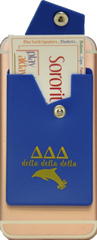 Delta Delta Delta Cell Phone Pocket with Snap Closure