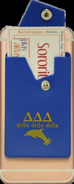 Delta Delta Delta Cell Phone Pocket with Snap Closure