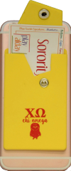 Chi Omega Cell Phone Pocket with Snap Closure