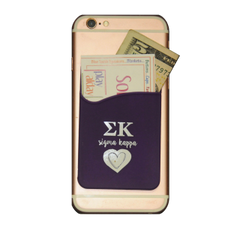 Sigma Kappa Cell Phone Pocket - Dark Purple