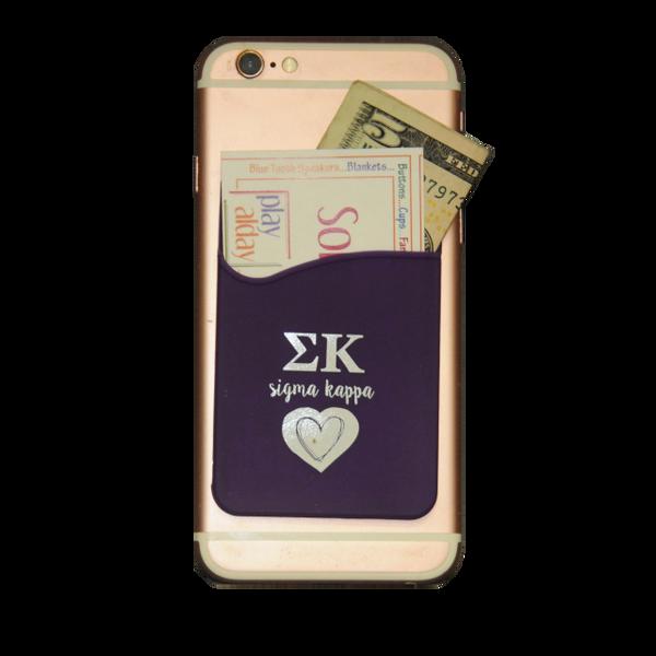 Sigma Kappa Cell Phone Pocket - Dark Purple