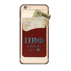 Pi Beta Phi Cell Phone Pocket - Maroon