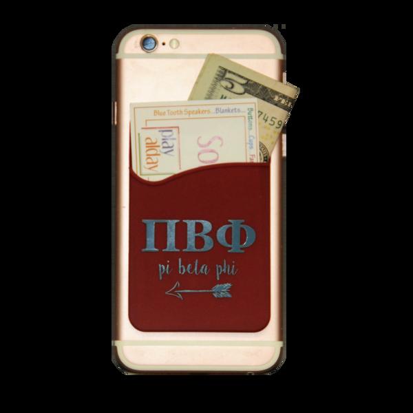 Pi Beta Phi Cell Phone Pocket - Maroon