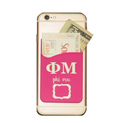 Phi Mu Cell Phone Pocket - Pink
