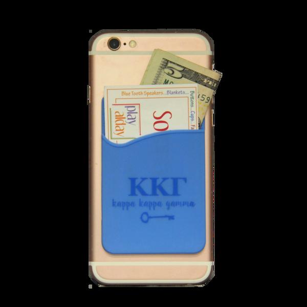 Kappa Kappa Gamma Cell Phone Pocket - Light Blue