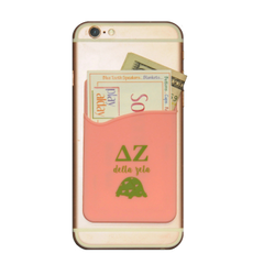 Delta Zeta Cell Phone Pocket - Pink