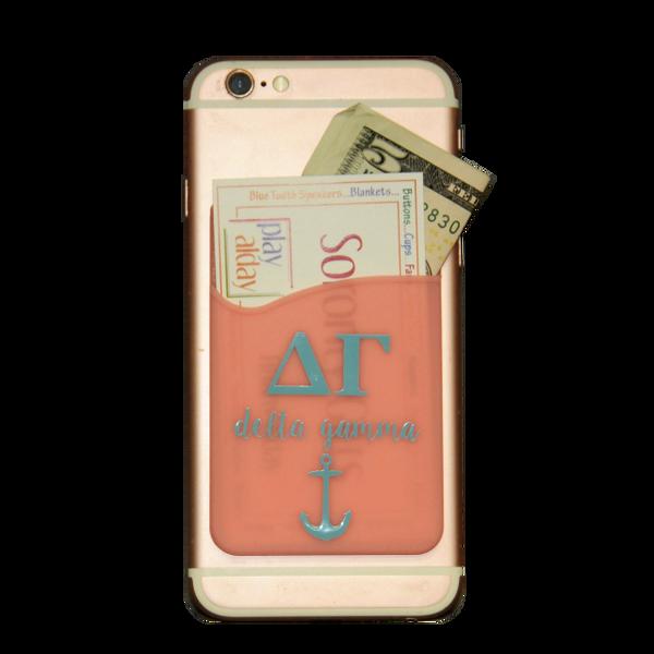 Delta Gamma Cell Phone Pocket - Pink