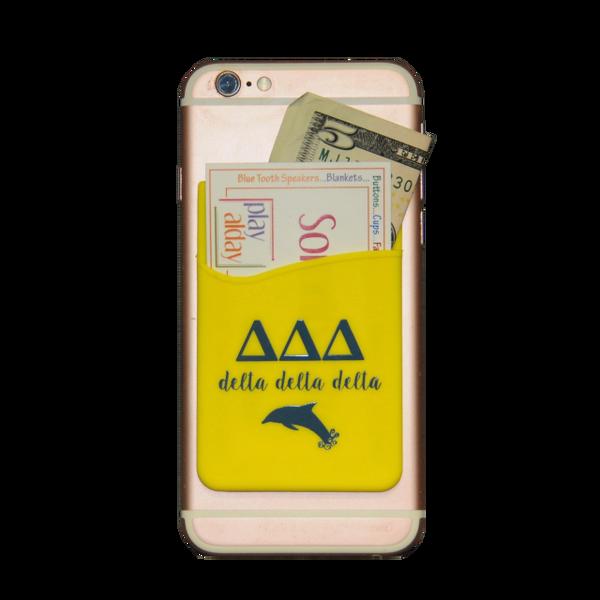 Delta Delta Delta Cell Phone Pocket - Yellow