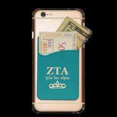 Zeta Tau Alpha Cell Phone Pocket - Blue