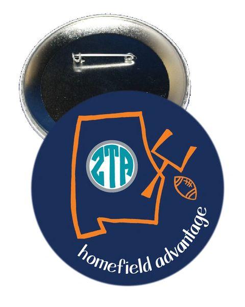 Zeta Tau Alpha Auburn Homefield Advantage Gameday Button