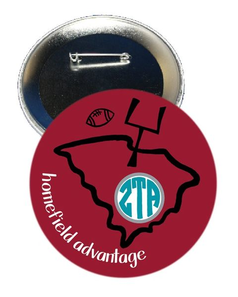 Zeta Tau Alpha South Carolina Homefield Advantage Gameday Button