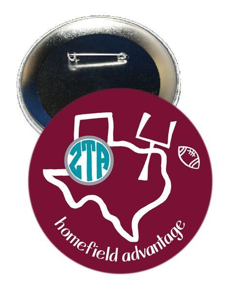 Zeta Tau Alpha Texas A&M Homefield Advantage Gameday Button